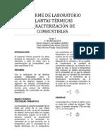 Informe de Laboratorio Plantas Térmicas Combustibles