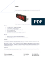 Timetools Ethernet Wall Clock NTP