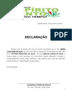 Declaraçaõ de Carencia