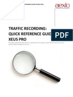 Aexio Xeus Pro 2012 Traffic Recording Quick Guide