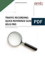 Aexio Xeus Pro 2012 Traffic Recording Quick Guide