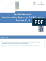 Mobile Network Drive Test Benchmarking Report