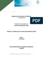 Unidad 1. Introducción a La Interconectividad de Redes