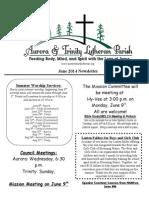 Aurora-Trinity Newsletter June14
