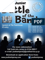 Jersey Junior Battle of the Bands Poster 2014