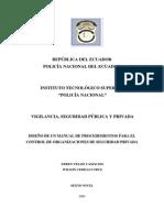 Manual de Procedimientos Para El Control de Organizaciones de Seguridad Privada