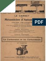 C.wathoul - La Carburation Et Les Carburateurs (partie 2)