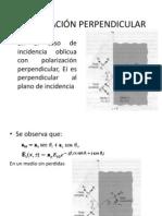 Polarización Perpendicular