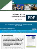 2013 DOE H2 Storage Introduction