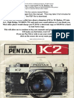 Pentax k2 user manual