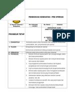 Sop Pendd Pre Operasi
