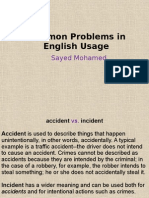 Common Problems in English Usage
