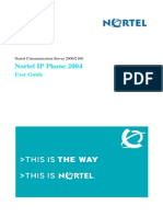Manual Nortel Ip Phone 2004 User Guide