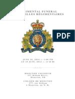 RCMP Funeral Program