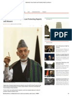 Karzai Rejects Law Protecting Rapists and Abusers 2-18-14