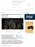 Report_ Afghanistan Cannot Be Trusted With US Aid — 1-30-14 RT
