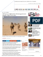 UK Forces in Afghanistan Detaining Prisoners Illegally, High Court Rules 05-02-14
