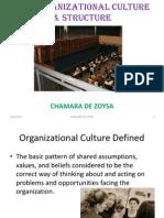 Organizational Culture & Structure