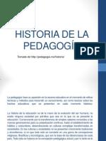 1. Historia de La Pedagogía