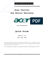 Acer Veriton One Button Recovery QuickGuide v1-01