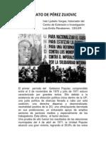 EL ASESINATO DE PÉREZ ZUJOVIC