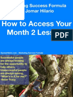 How to Access Your Msf Month2 Lessons 2014 PDF by Jomarhilario
