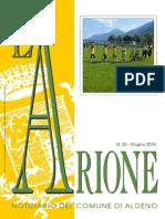 L'Arione notiziario comunale di Aldeno, numero 33 giugno 2014