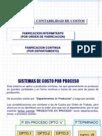 Sistemas Costeo Por Procesos