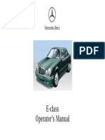 Mercedes e320 e430 Owners Manual 2001