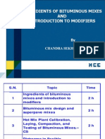 Ingredients of Bituminous Mixes & Introduction to Modifiers