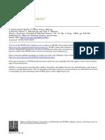 Mazmanian 1980 Model of Public Policy Making