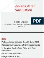 Palestinians After Reconciliation