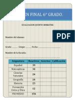 EXAMEN FINAL 6° 2013-2014