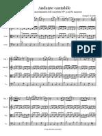 Serenade Haydn Cuarteto Score