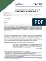 Desenvolvimento Sustentável à Economia Verde