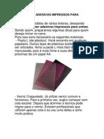 Como Fazer Adesivos Impressos Para Unhas