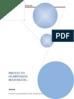 Proyecto Olimpiadas de Matematic