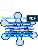 spanish snowflake sentances