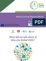 Presentación de la Alianza Mundial Ciclista en Velo-city Global 2014