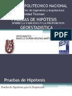 Pruebas de Hipotesis Sobre La Varianza y La Proporcion