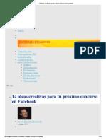 14 Ideas Creativas Para Tu Próximo Concurso en Facebook