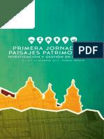 PROGRAMA Primera Jornada de Paisajes Patriomoniales