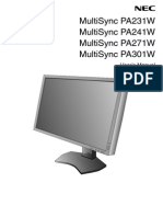 NEC PA Series Usermanual