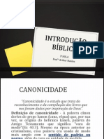 INTRODUÇÃO BÍBLICA-3°Aula