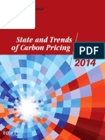 State and Trends of Carbon Pricing 2014