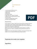 Espinazo Con Verdolagas