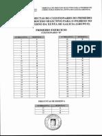 Primer Ejercicio Subalterno Xunta Galicia 2006 Respuesta