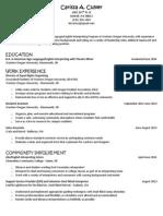 resume updated june 10 2014