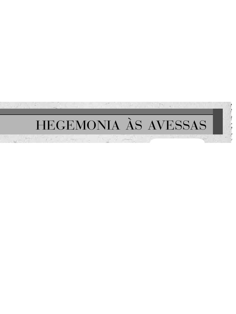 Hegemonia s avessas fandeluxe Image collections