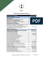 Anexo Presupuesto Vigencia 2014